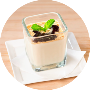 Panna Cotta with Soybean Flour